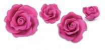 Zucker-Rosen, fuchsia, 17-teilig, 3x 88mm, 3x 65mm, 4x 55mm, 7x 40mm, glutenfrei, 1 Box