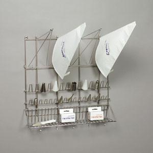 Wandaufhänger für Spritzbeutel und Tüllen, Edelstahl,