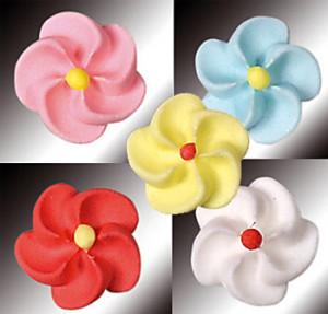 Zucker-Blumen, sortiert