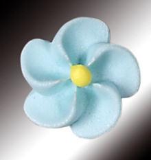 Zucker-Blumen, hellblau