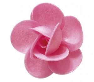 Waffel-Blumen, rosa