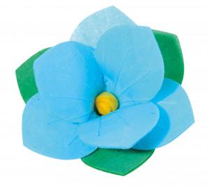 Waffel-Pfingstrose, blau, 50mm, 100 Stück