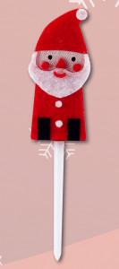 Weihnachtsmann-Einstecker, aus Filz am Kunststoffstab
