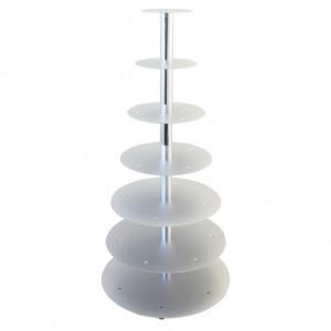 Tortenständer silber mit 7 Etagen, sehr stabile Ausführung