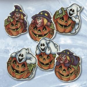 Halloweenaufleger, Dekormasse, sortiert