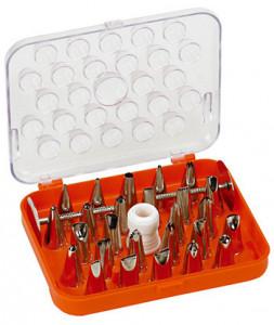 Spritztüllen-Set, 29-teilig, Tüllen vernickelt, incl. Adapter