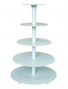 Kunstoff-Etagere mit Kunstoff-Tortenständer mit 5 Etagen,
