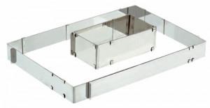 Edelstahl-Backrahmen, verstellbar, Stärke 1,2mm, Höhe 80mm, Abme