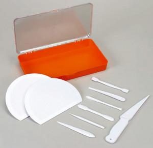 Marzipan-Modellierset, klein, bestehend aus 2 Strukturbrettern,