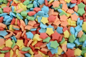 Zucker-Sterne, Streudekor, sortiert, 7mm, 1 kg