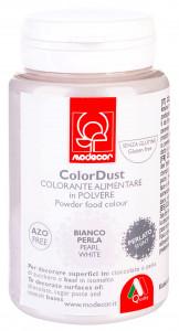 Pulverfarbe, Metallic, weiss, 25g, 1 Stück