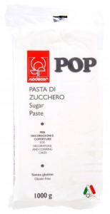 POP Fondant, weiss, modellierbare Einschlagmasse, 1kg, 1 Stück