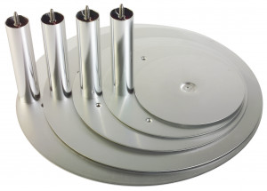 Aluminium-Tortenteller silber, 55cm