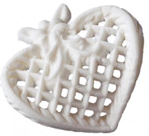 Filigran-Herzen, Tragantzucker, klein, weiß, 25 Stück,