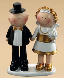 Lustiges Brautpaar Goldhochzeit
