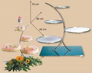 Exclusiver Tortenständer mit 4 abnehmbaren Hartplastikplatten
