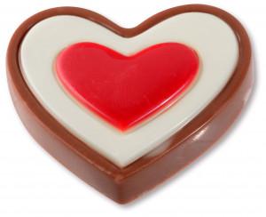 Schoko-Herz, besonders stark, 15g, 50mm, 36 Stück