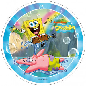 Waffel-Aufleger Sponge Bob, 4-fach sortiert, 21cm, 12 Stück