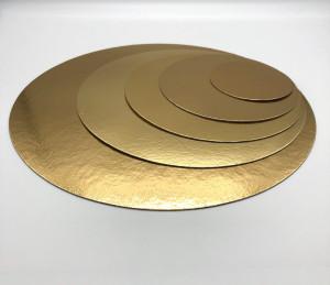 Tortenteller, Tortenunterlage, gold, 10cm, 100 Stück