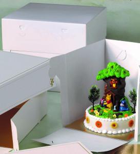 Tortenkarton XXL, höhenverstellbar, 40x40x30-40cm, 10 Stück