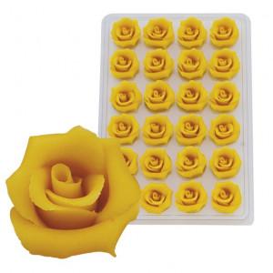 Marzipan-Rosen, mittel, gelb