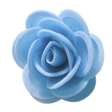Waffel-Blumen, blau, 45mm, 100 Stück