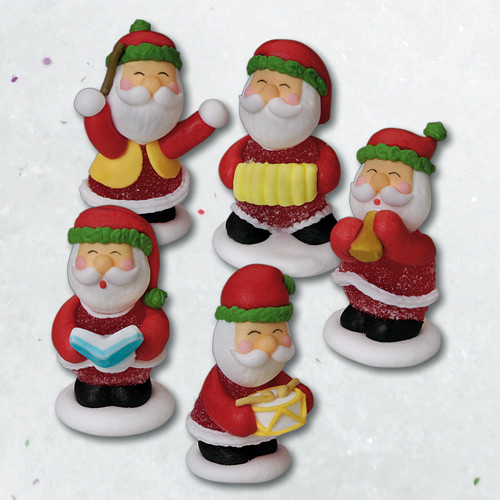 Geleé/Zucker-Weihnachtsmänner,  5-fach sortiert