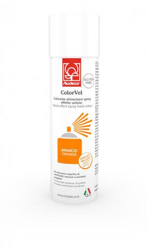 Velvet-Lebensmittelspray mit Samteffekt, orange, zum Dekorieren von Eistorten, Speiseeis und Mousse, 250ml, 1 Stück