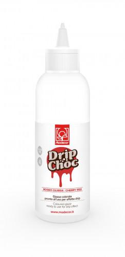 Drip Choc Cake (Tropfenkuchen), Schokoglasur, rot, 180g, 1 Stück
