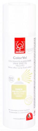 Velvet-Lebensmittelspray mit Samteffekt, pistaziengrün, zum Dekorieren von Eistorten, Speiseeis und Mousse, 250ml, 1 Stück