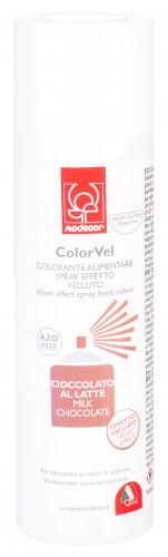 Velvet-Lebensmittelspray mit Samteffekt, hellbraun, zum Dekorieren von Eistorten, Speiseeis und Mousse, 250ml, 1 Stück