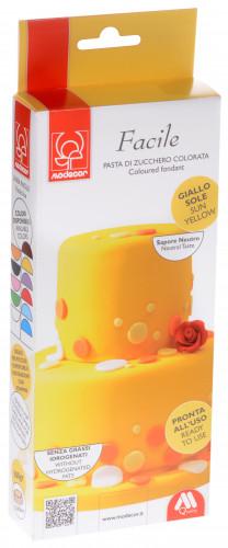 Modellierbarer Fondant, gelb, zum Kunvertieren und zur Schaffung von 2D-Dekorationen