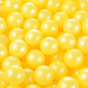 Zucker-Perlen, gelb, glutenfrei, 6mm, 1kg
