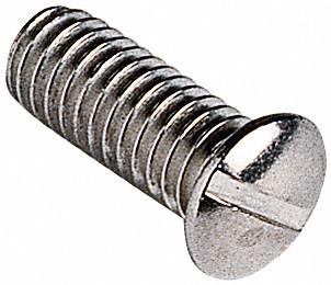 Obere Schraube, Metall, silber