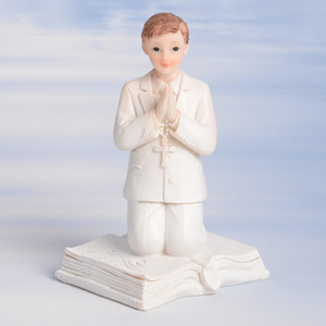 Kommunion-Junge, knieend, Polystone, 11,5cm, 6 Stück