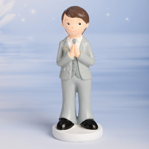 Kommunion-Junge, betend, Polystone, 15,5cm, 6 Stück