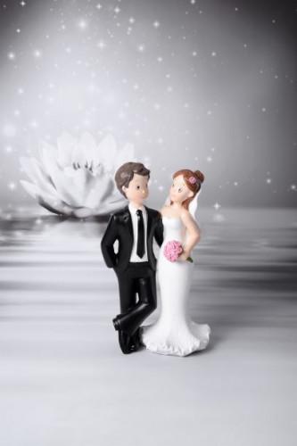 Lustiges Brautpaar, 2-fach sortiert, Polystone, 16cm, 6 Stück 59,75