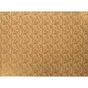 Tortenteller, Karton mit Goldfolie beschichtet, 50x40cm, 12mm stark, 5 Stück
