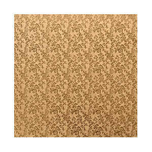 Tortenteller, Karton mit Goldfolie beschichtet, 40x40cm, 12mm stark, 5 Stück