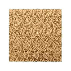 Tortenteller, Karton mit Goldfolie beschichtet, 35x35cm, 12mm stark, 5 Stück