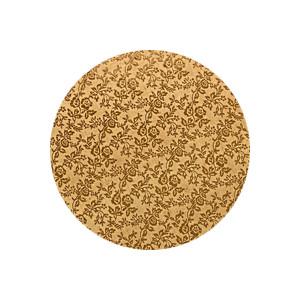 Tortenteller, Karton mit Goldfolie beschichtet, 25cm, 12mm stark, 5 Stück