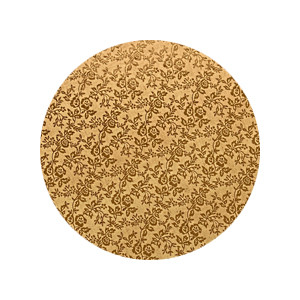 Tortenteller, Karton mit Goldfolie beschichtet, 30cm, 12mm stark, 5 Stück