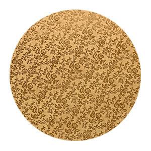 Tortenteller, Karton mit Goldfolie beschichtet, 40cm, 12mm stark, 5 Stück