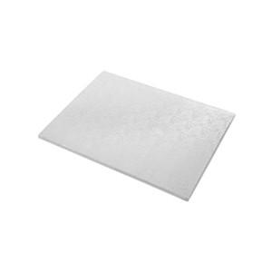 Tortenteller, Karton mit Silberfolie beschichtet, 45x35cm
