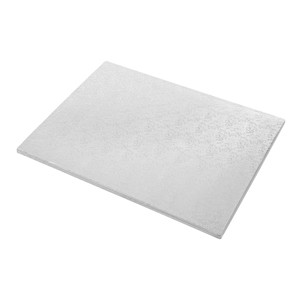 Tortenteller, Karton mit Silberfolie beschichtet, 55x45cm, 12mm stark, 5 Stück40cm5 Stück