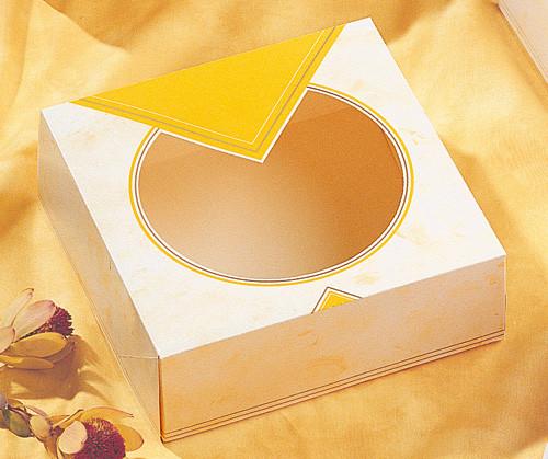 Tortenkarton mit Klarsichtfenster, einteilig
