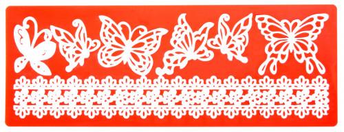 Sweet Lace Express Silikonform Provence für essbare Spitze, 19x7cm, 1 Stück