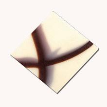 Schoko-Ornament Quadrat