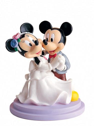 Brautpaar Mickey Mouse tanzend, Polystone, 15cm, 2 Stück