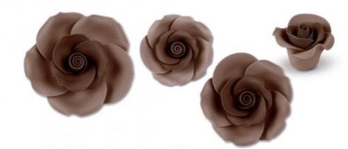 Zucker-Rosen, braun, 17-teilig, 3x 88mm, 3x 65mm, 4x 55mm, 7x 40mm, glutenfrei, 1 Box
